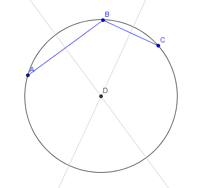 3 points circle
