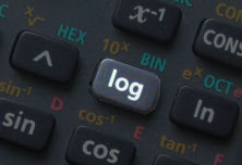 log button on calculator