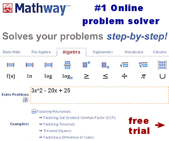 Online algebra solver - can solve your math problems step-by-step