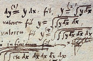 Leibniz original integration notation