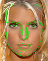 Jessica Simpson and Marquardt mask